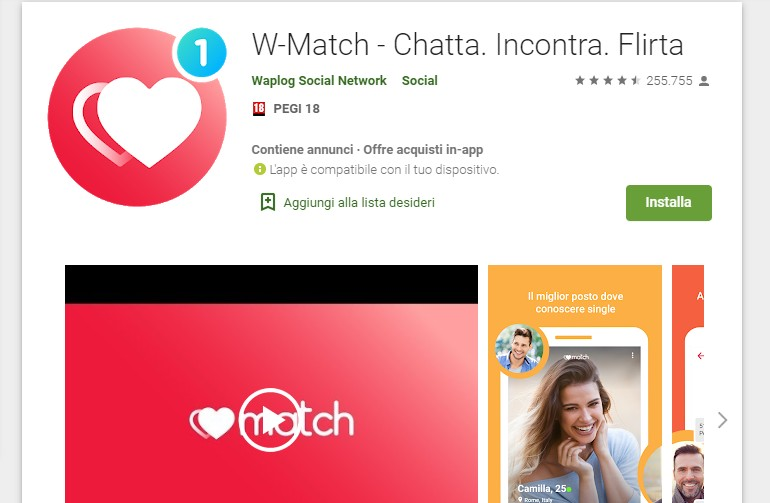 W-Match Android-app
